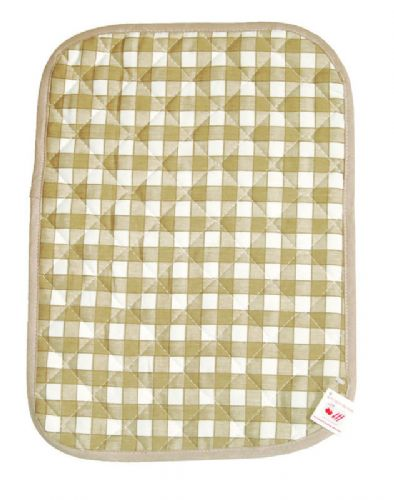 CREAM COLOUR CHECK COTTON QUILTED TABLE PLACE MAT
